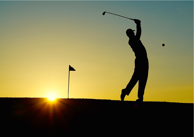 golf-sunset-sport-golfer fitness collaborative golf bets