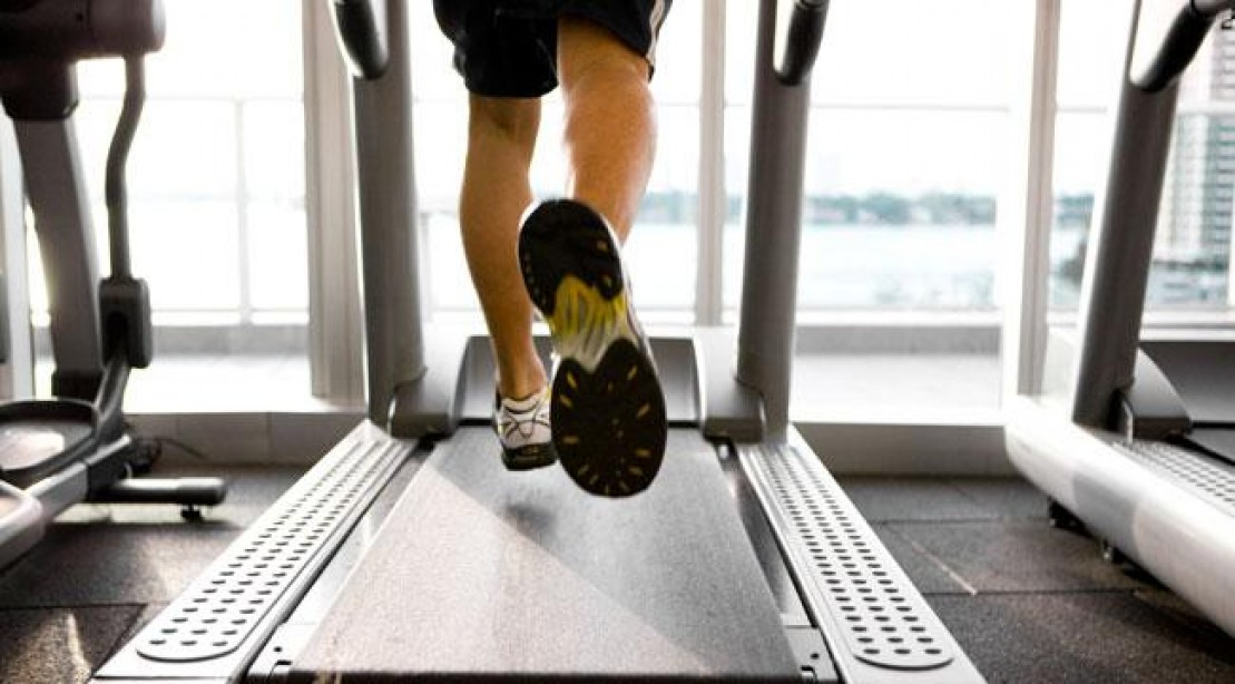Fitness - running on a treadmill - healthy Lifestyle